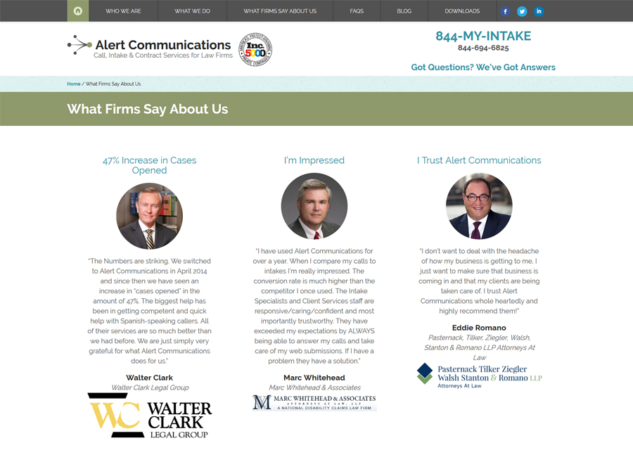 Alert Communications Website Design by Guido Media