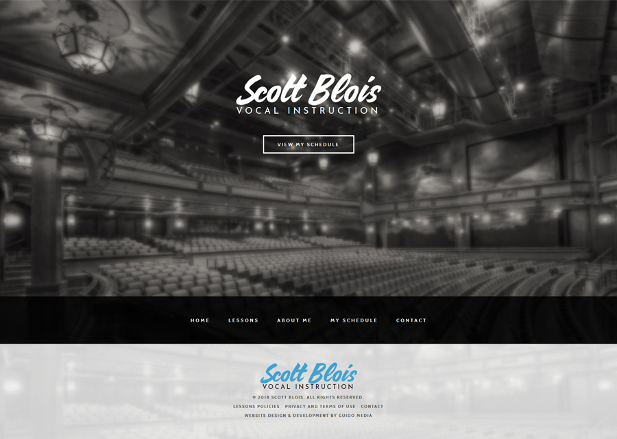 Blois Voice Lessons Website Design by Guido Media