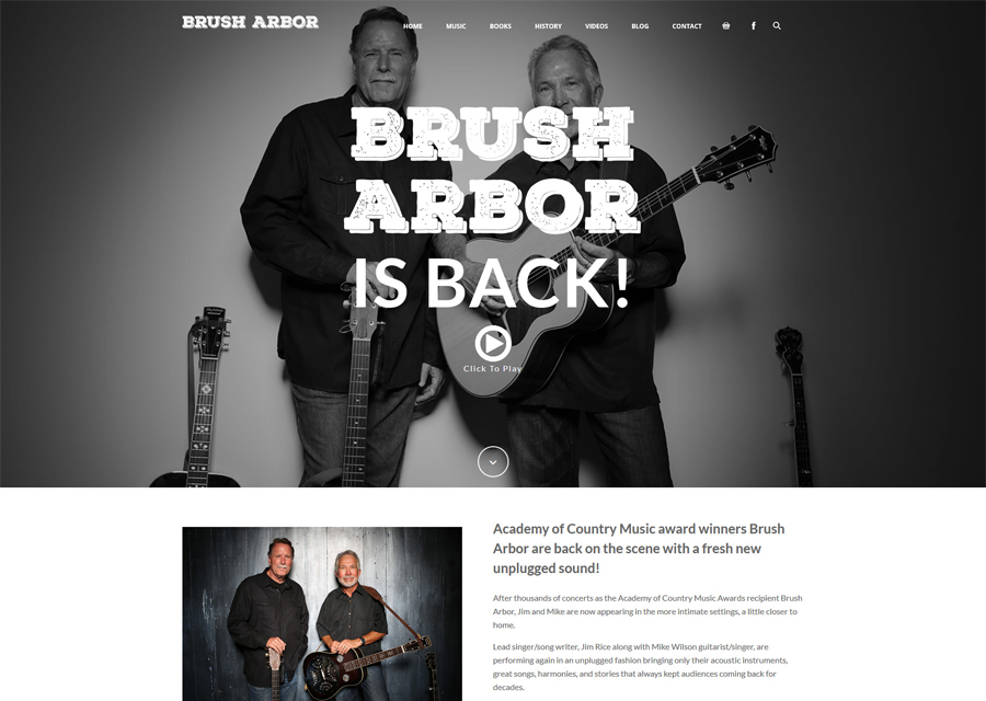Brush Arbor Website Design by Guido Media