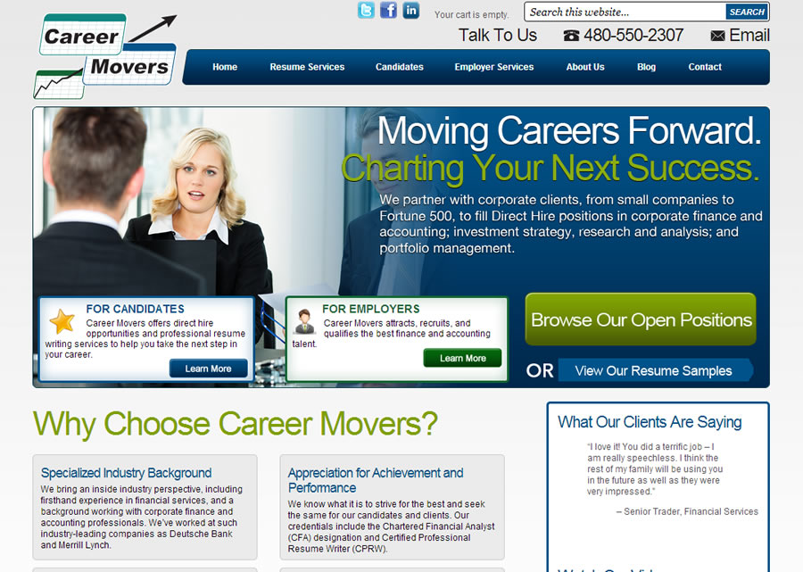 Career Movers Website Design by Guido Media