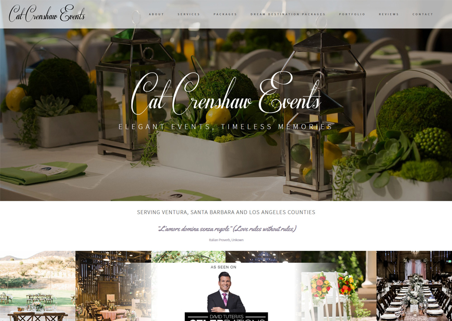 Cat Crenshaw Events Website Design by Guido Media