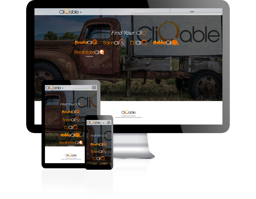 Cliqable Website Design by Guido Media