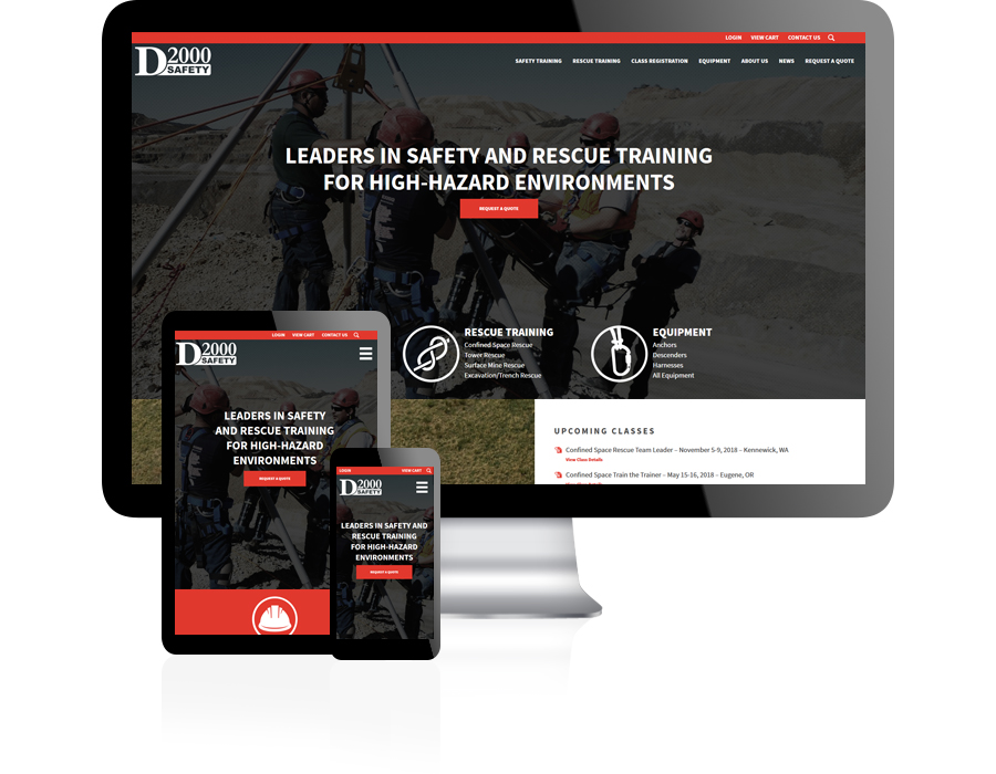 D2000 Safety Website Design by Guido Media