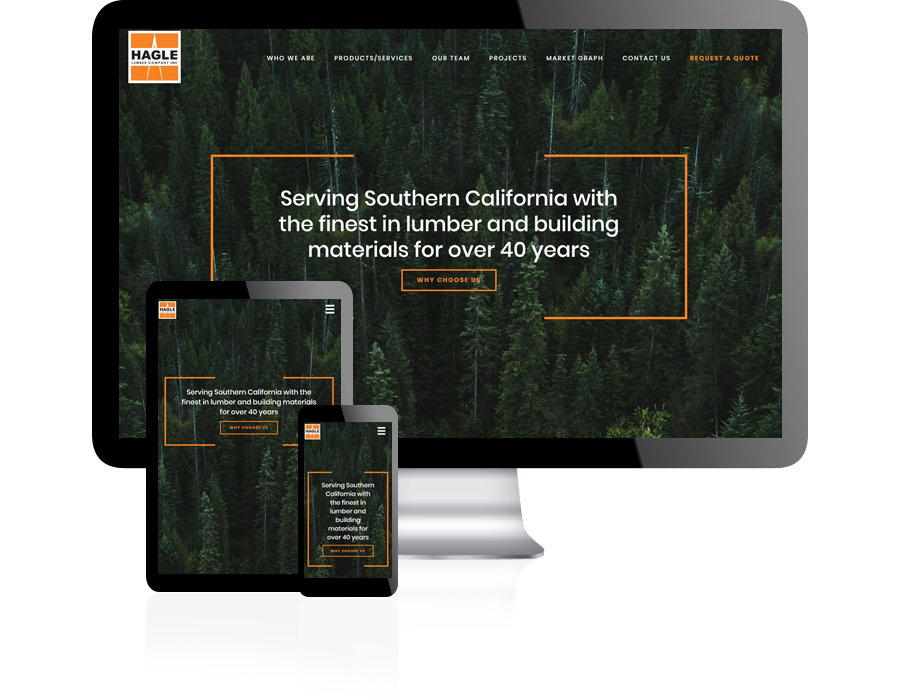 Hagle Lumber Website Design by Guido Media