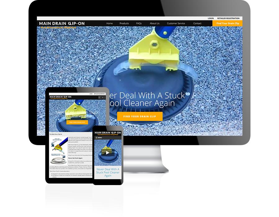 Main Drain Clip On Website Design