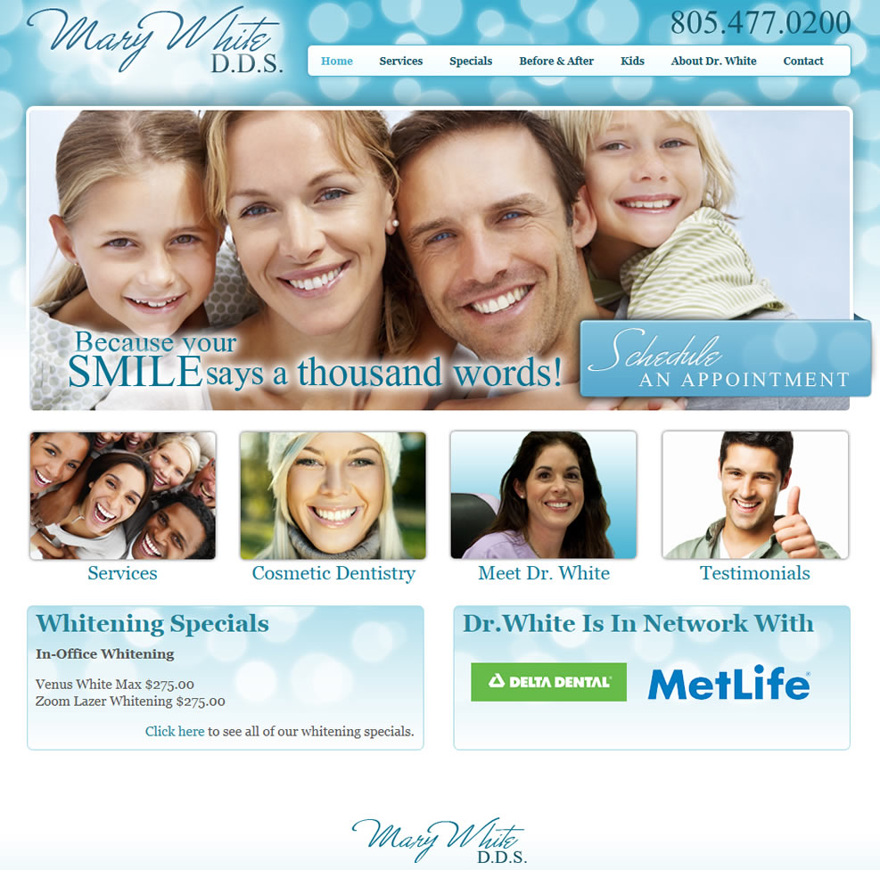 Mary White DDS Website Design by Guido Media