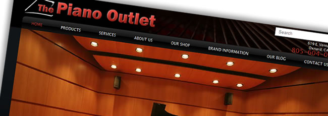 The Piano Outlet Website Design