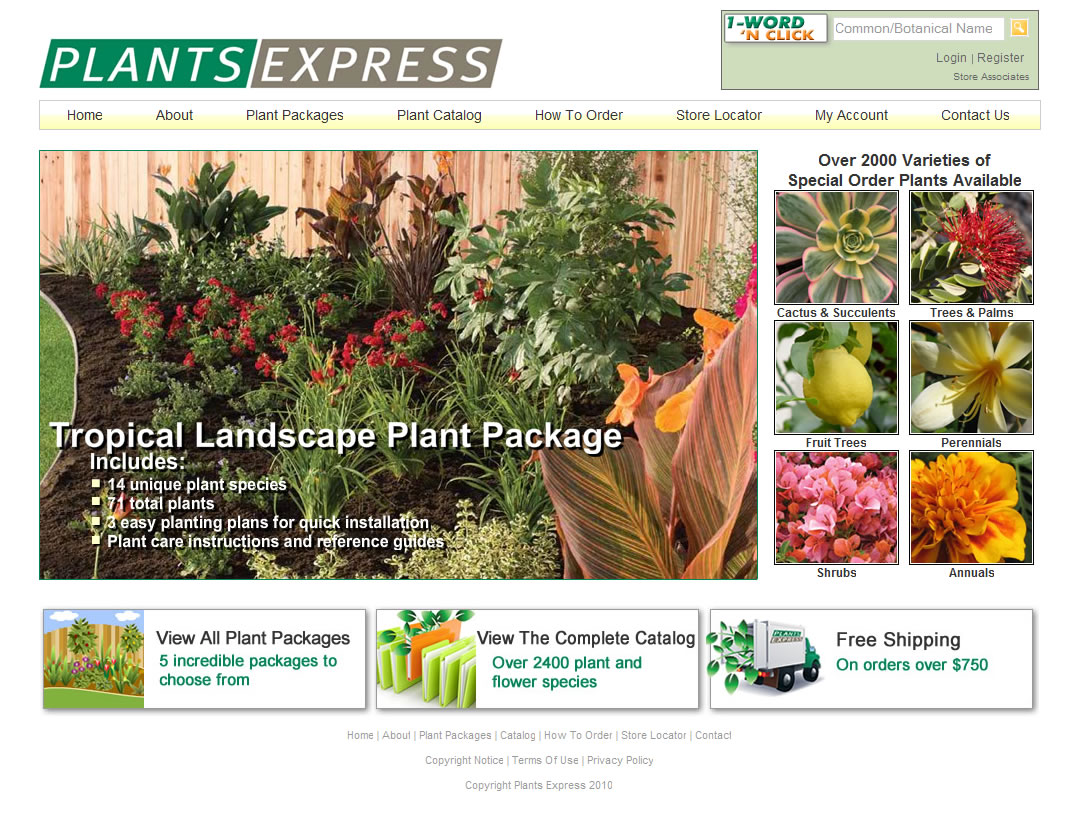 Plants Express Website Design by Guido Media