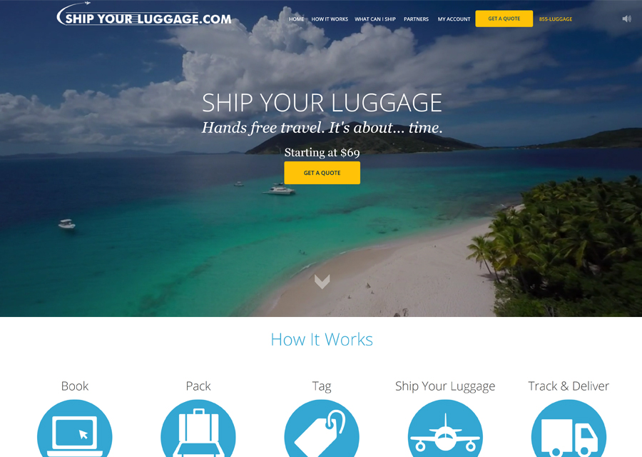 Ship Your Luggage Website Design by Guido Media