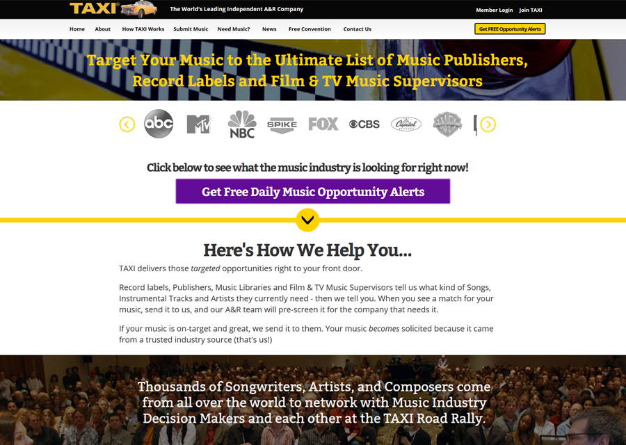 Taxi Website Design by Guido Media