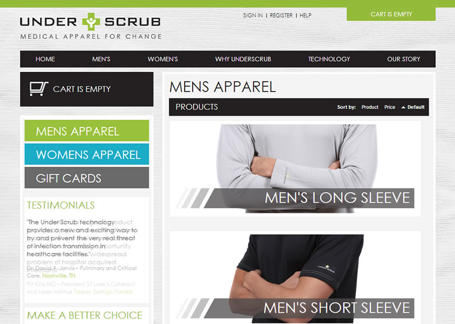 Underscrub Website Design by Guido Media