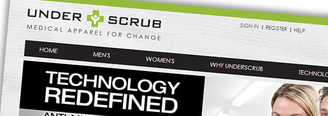 Underscrub Website Design
